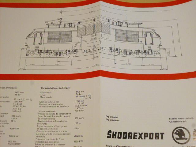 Škoda Plzeň - 55 E - elektrická lokomotiva - prospekt