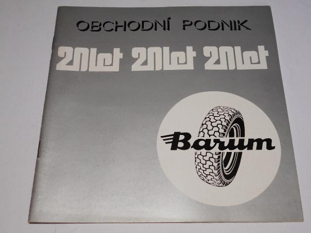 Barum - obchodní podnik 20 let - 1978