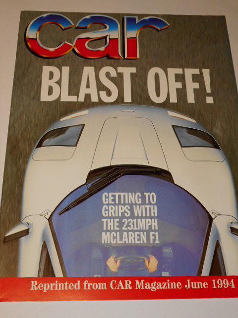 McLaren F 1 - reprinted from CAR Magazine June 1994