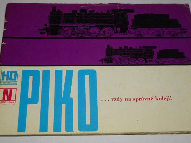 PIKO ... vždy na správné koleji - prospekt - 1970 - modelová železnice