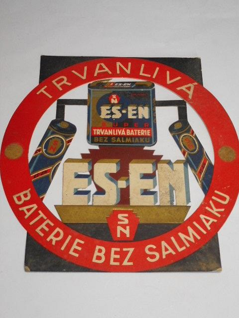 ES-EN - trvanlivá baterie bez salmiaku - papírová reklama