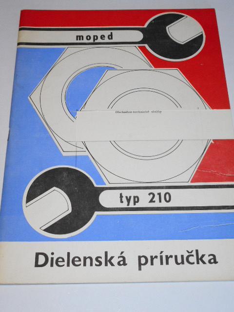 Babetta typ 210 - moped - dielenská príručka - Jawa, ZVL, Motokov