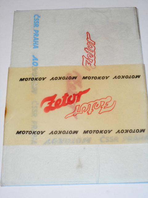Zetor - Motokov - reklamní hygienické a čistící ubrousky