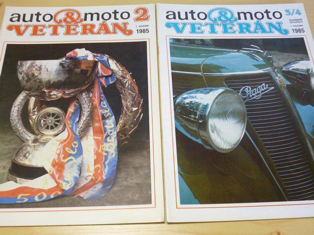 Auto a moto veterán - časopis - 1985-1988 - JAWA, ČZ, Tatra, Praga, Škoda...