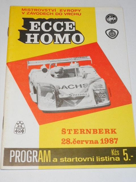 Ecce homo Šternberk - 28. 6. 1987 - program + start. listina
