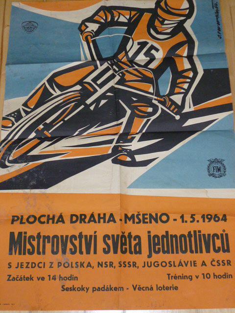 Plochá dráha - Mšeno - 1. 5. 1964 - plakát