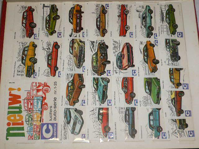 Nálepky na zápalkové krabičky - sbírka s tématikou auto - moto