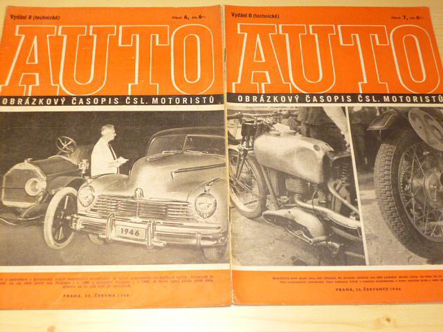 Auto - vydání B - technické - časopis - 1946