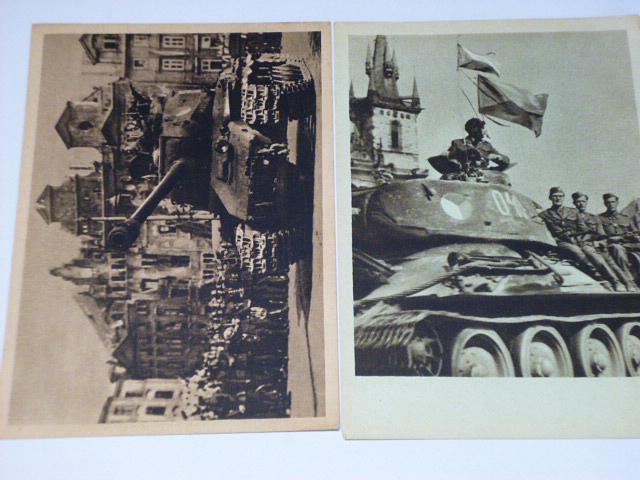 Květen 1945 - tank - pohlednice