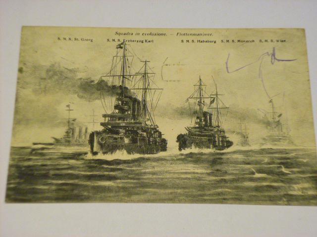 Squadra in evoluzione - lodě - pohlednice - 1908