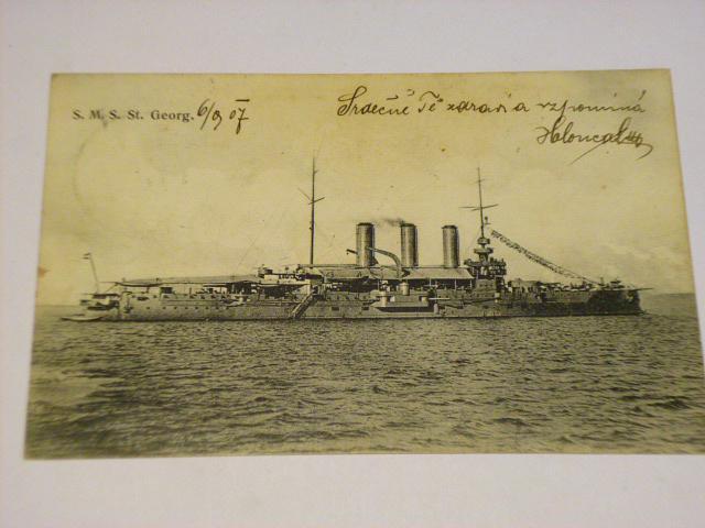 S.M.S. St. Georg - loď - pohlednice - 1907