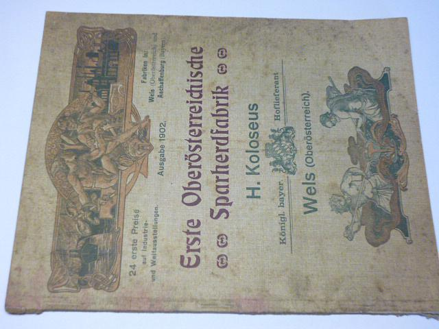 Erste Oberösterreichische Sparherdfabrik - 1902 - prospekt - sporáky