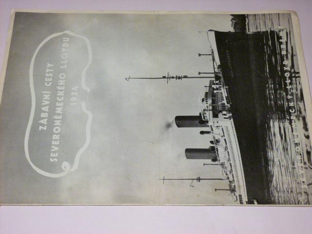 Zábavní cesty Severoněmeckého Lloydu - 1934 - jízdní řád - prospekt