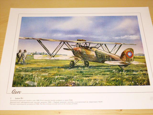 Aero 1918 - 1978 - letadla - soubor 50 grafických listů