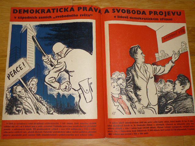 Demokratická práva a svoboda projevu - plakát