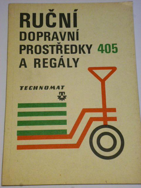 Technomat - ruční dopravní prostředky a regály - 1980