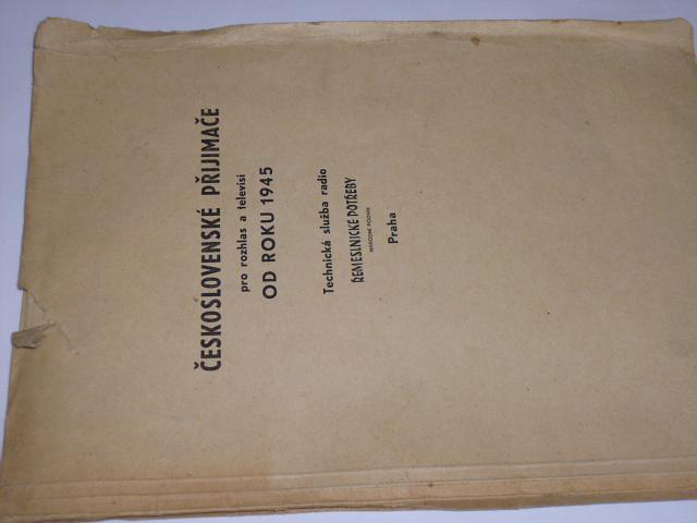 Československé přijimače pro rozhlas a televisi od roku 1945