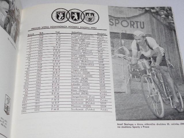Mladá Boleslav etapové město 27. ročníku Závodu míru 1974