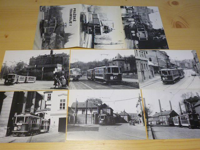 Pražské tramvaje - pohlednice