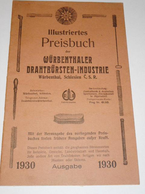 Illustriertes Preisbuch Würbenthaler Drahtbürsten-Industrie