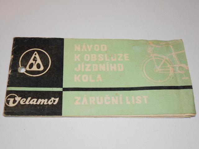 Velamos - návod k obsluze jízdního kola - 1978