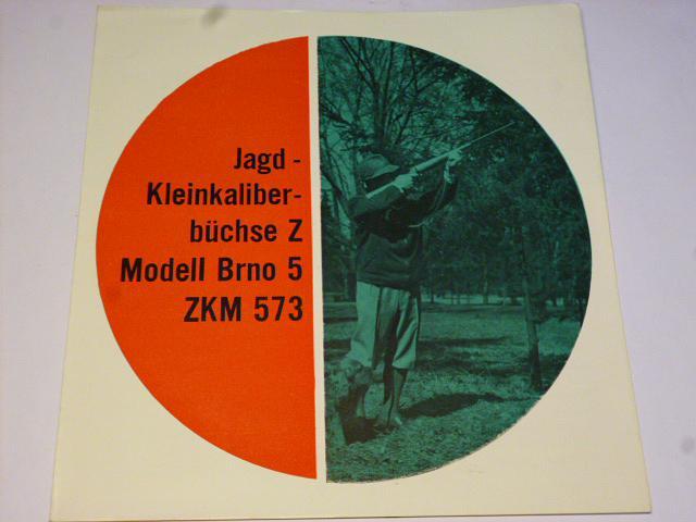 Zbrojovka Brno - Modell Brno 5 ZKM 573 - prospekt - Omnipol