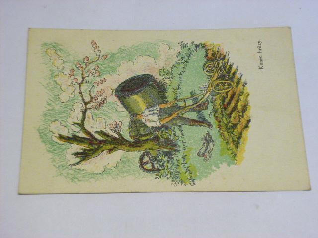 Velikonoce 1919 - konec hrůzy - pohlednice