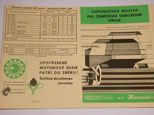 Doporučená maziva pro zemědělské samojízdné stroje