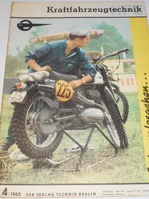 Kraftfahrzeug technik 4/1965 - časopis NDR - DDR