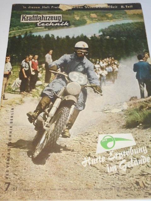 Kraftfahrzeug technik 7/1961 - časopis NDR - DDR