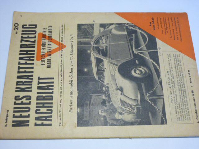 Neues Kraftfahrzeug Fachblatt - 20/1948 - časopis