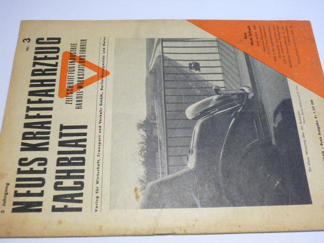 Neues Kraftfahrzeug Fachblatt - 3/1949 - časopis