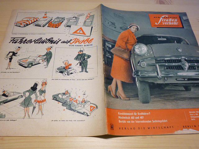 Der Deutsche Strassen verkehr - 11/1958 - časopis NDR - DDR