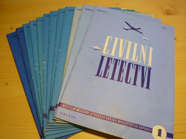 Civilní letectví - 1947 - časopisy