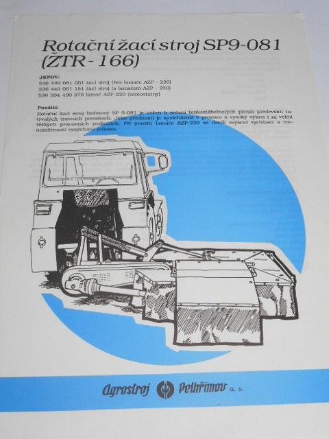 Rotační žací stroj SP9-081 (ŽTR-166) - prospekt - Agrostroj Pelhřimov