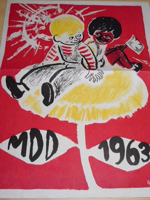 MDD 1963, kdo lépe - kdo rychleji!, vyrobit dostatek kvalitního sena, ropovod Družba - plakát