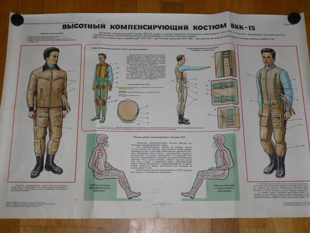 Skafandr BKK-15 - 1988 - výukový obraz - plakát