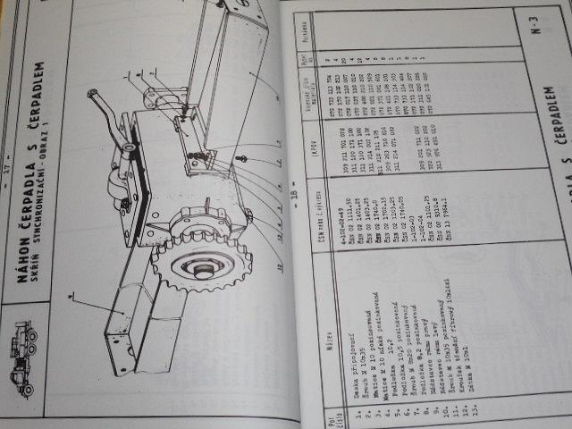 Praga V3S - ARS-12 M - chemický automobil rozstřikovací - katalog dílů - 1985