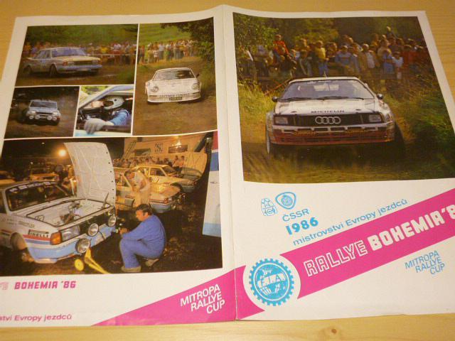Rallye Bohemia 1986 - propagační materiál - leták