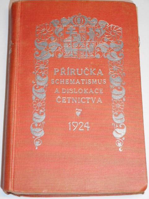 Příručka, schematismus a dislokace četnictva - 1924 + příloha kalendář
