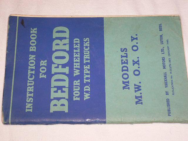 Bedford - návod k obsluze - 1940
