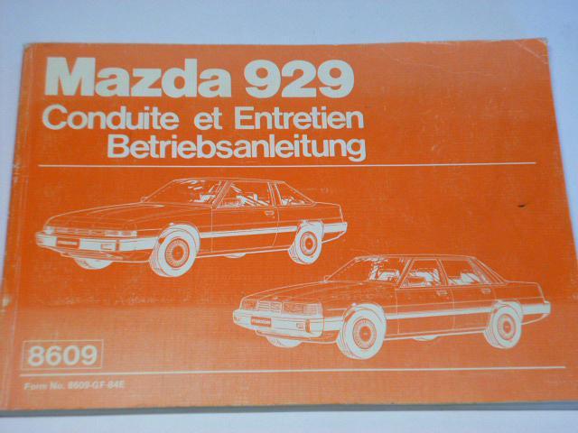Mazda 929 - návod k obsluze - 1984