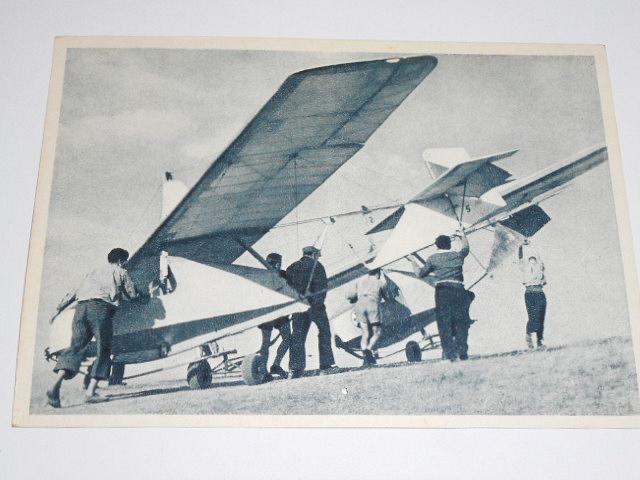 Transport klzákov na štart - pohlednice