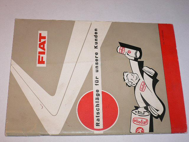 FIAT - Ratschläge für unsere Kunden - 1962
