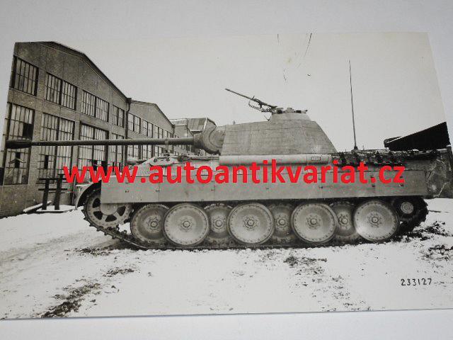 Německý tank - unikátní fotografie