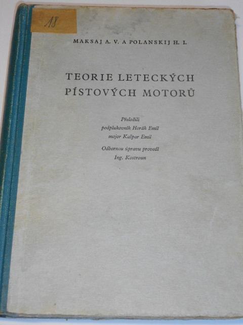 Teorie leteckých pístových motorů - Maksaj, Polanskij