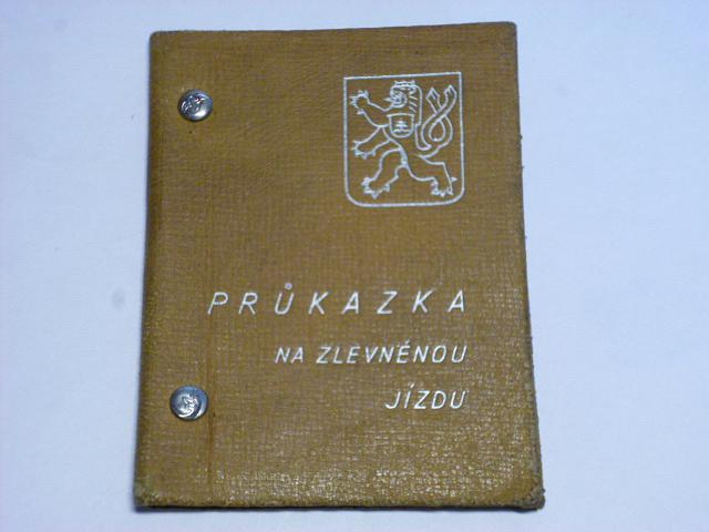 ČSD - průkazka na zlevněnou jízdu - 1936