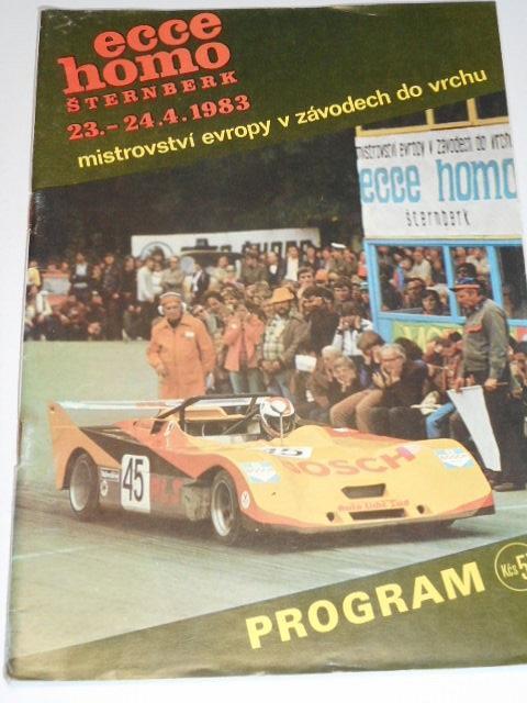 Ecce homo Šternberk - 23. - 24. 4. 1983 - program + startovní listina