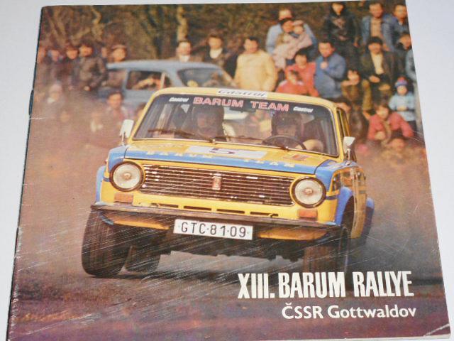 XIII. Barum rallye - Gottwaldov, 19.-20. 8. 1983 - program