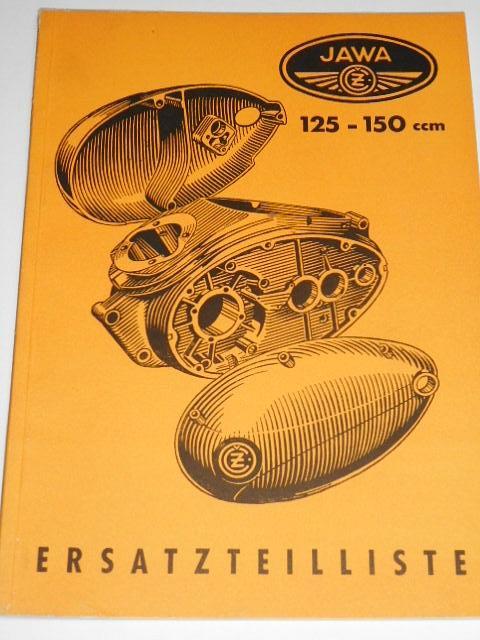 JAWA-ČZ 125/351, 150/352 - 1954 - Ersatzteilliste